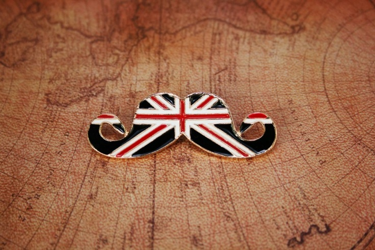 Engelse Vlag snor broche B0018