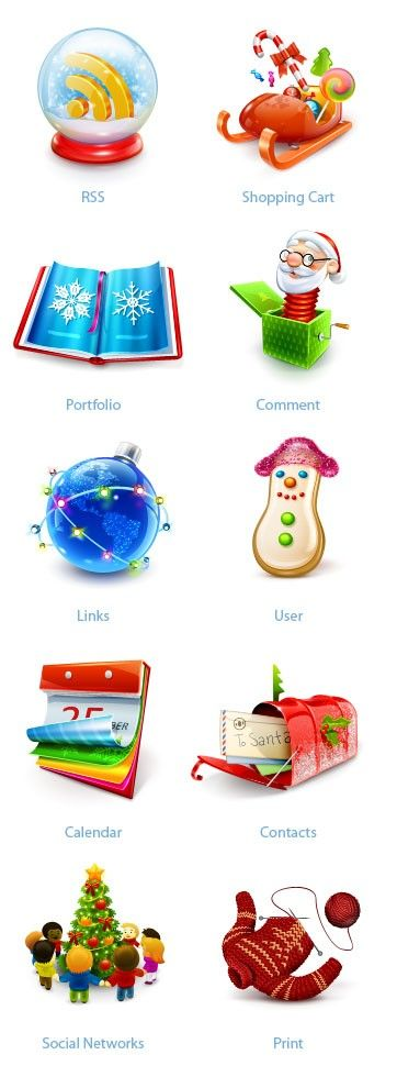 150 Free Christmas Icon Sets for designers