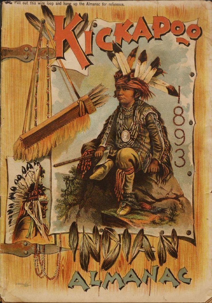 "Front cover of ""Kickapoo Indian almanac 1893."" Conn. 1893"
