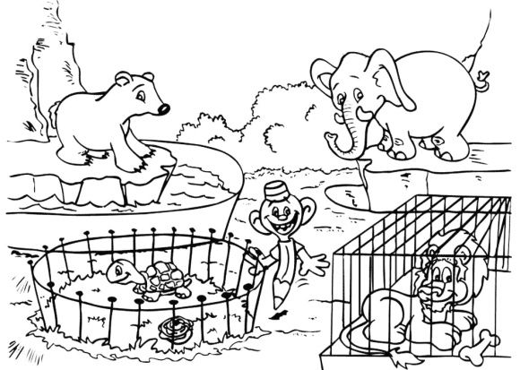Put Me In The Zoo Coloring Page Zoo Coloring Pages Animal Line