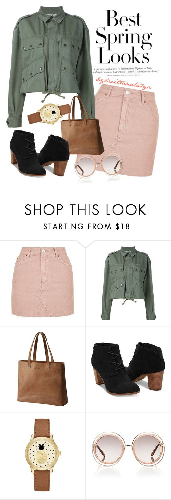 LADY IN THE WOOD by bylacitranatasya on Polyvore featuring Faith Connexion, Topshop, TOMS, SOREL, Jessica Carlyle, Chloé, H&M and vintage