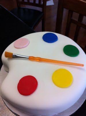 25+ best ideas about Art Party Cakes on Pinterest Paint ...