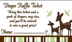 Personalized Willow Deer Diaper Raffle Ticket.  Wording can be changed if you would prefer it say something else.