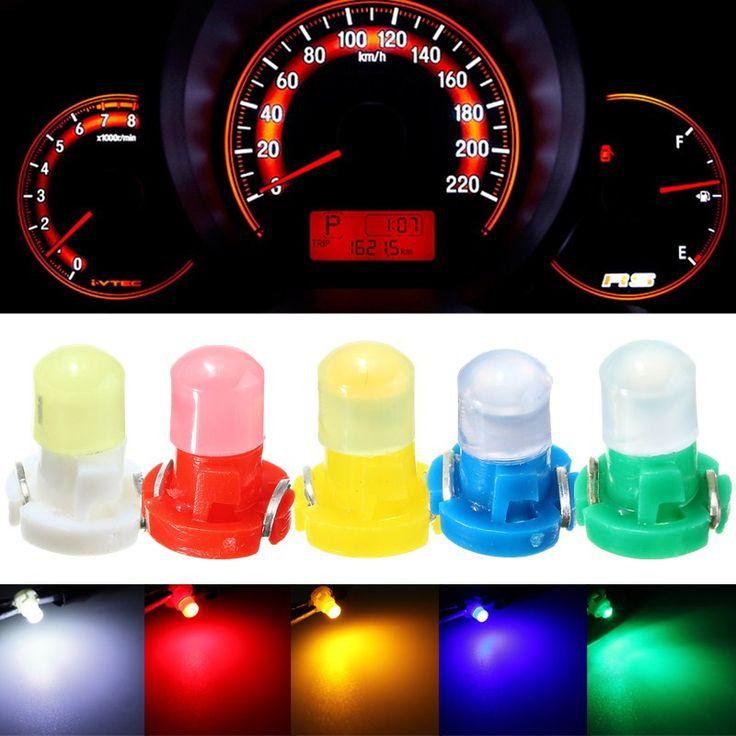 10x T3 Cluster Salpicadero Coche CONDUCIDO Bombilla de Luz Blanca/amarillo/Azul/Rojo/Verde instrumentos Panel Climático Base de La Lámpara luz