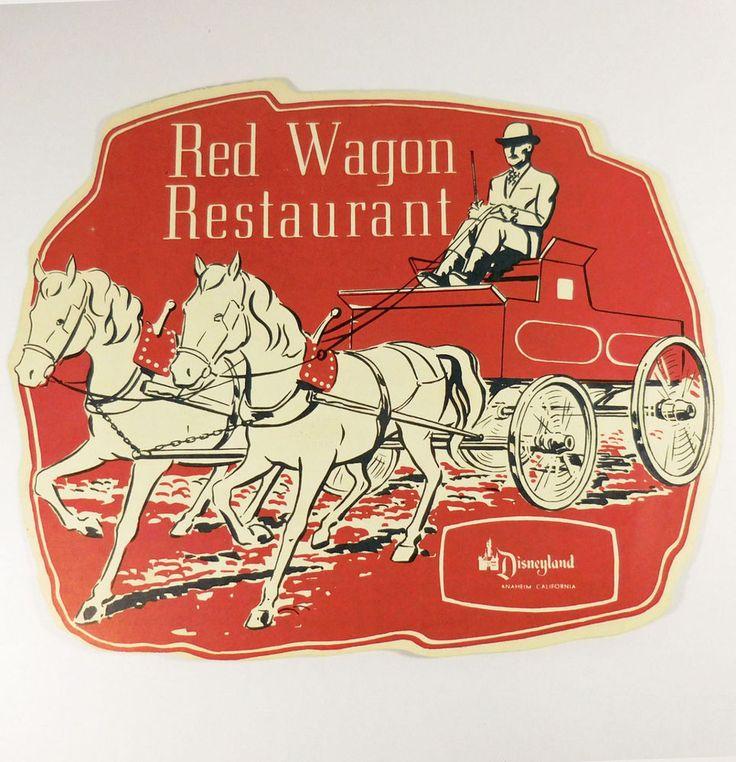 DISNEYLAND 1960 Red Wagon Restaurant Childrens Menu