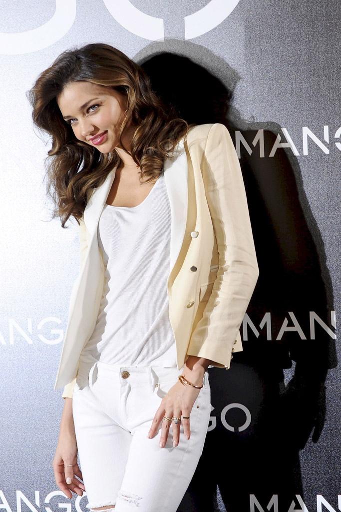 Miranda Kerr pasó por Madrid para presentarse como nueva imagen de Mango