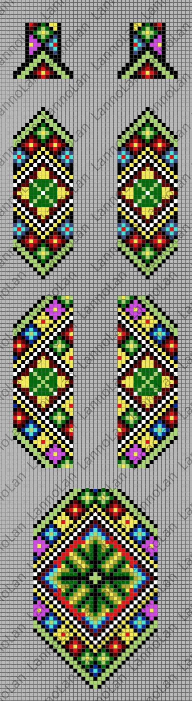 Ukrainian pattern - necklace - loom pattern - beads ... inspired by: http://media-cache-ak0.pinimg.com/600x/30/d8/60/30d8600fce50f2bbf4d7116037e775a6.jpg