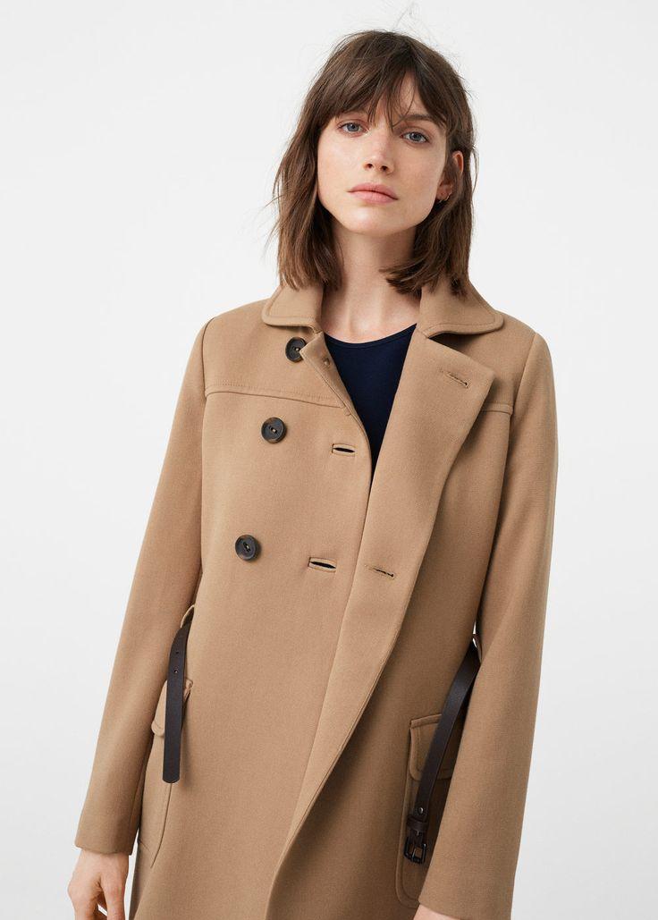 Kabát s dvojřadým zapínáním   MANGO