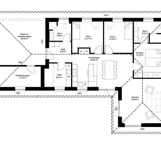 Winkelbungalow Schleswig Floorplan 1