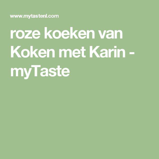 roze koeken van Koken met Karin - myTaste