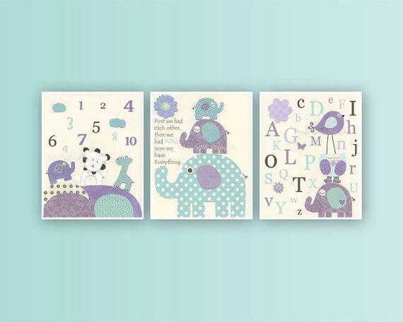 Bébé fille Room Decor art de la pépinière imprimer par DesignByMaya, $70.00