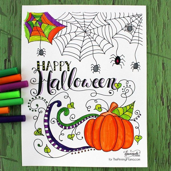Scary Halloween Coloring Pages Adults : 469 best adult coloring images on pinterest