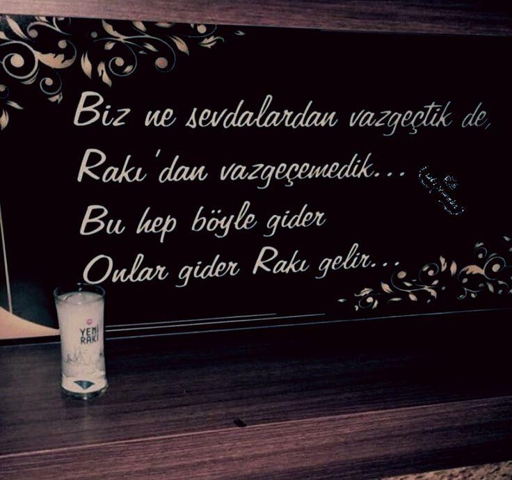 Biz ne sevdalardan vazgeçtik de, Rakı'dan vazgeçemedik... Bu hep böyle gider Onlar gider Rakı gelir... #sözler #anlamlısözler #güzelsözler #manalısözler #özlüsözler #alıntı #alıntılar #alıntıdır #alıntısözler #şiir #edebiyat #rakı