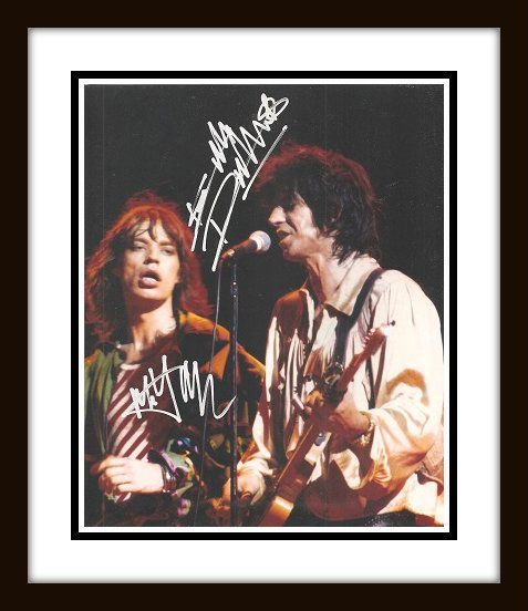 hand signed photo of mick and keith check out what 39 s new at rock star gallery http www. Black Bedroom Furniture Sets. Home Design Ideas