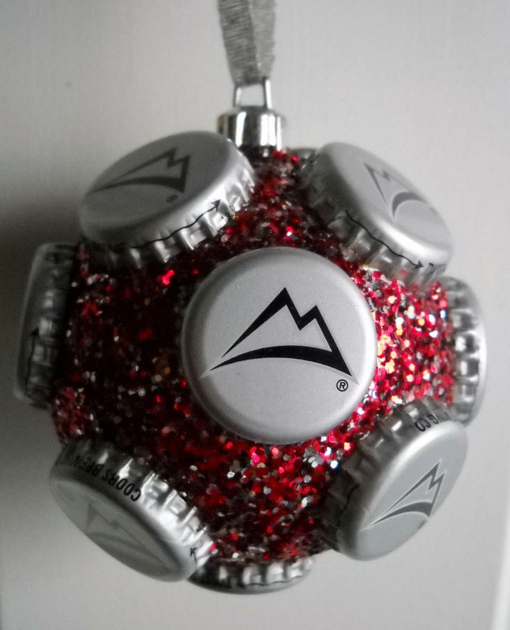 coors light beer bottle cap holiday ornament by jennaevesblocks, $6.50