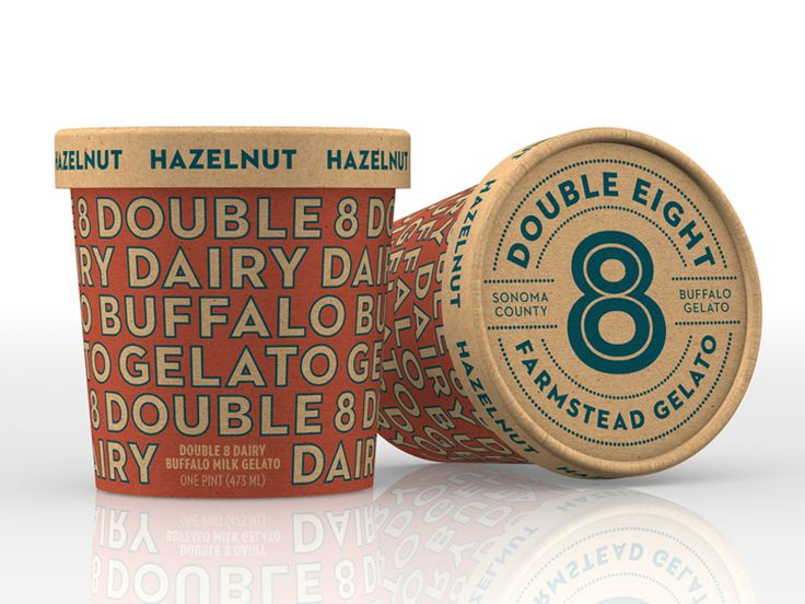 Double 8 Dairy Packaging by Cult Partners