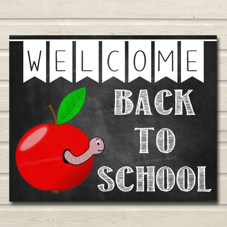 Welcome Back to School Sign Classroom Decor Apple School
