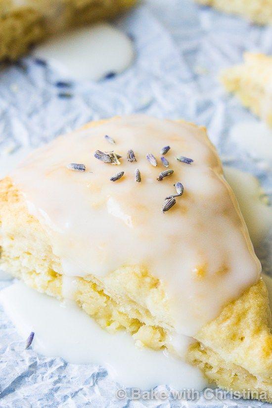 Glazed Lemon Lavender Scones-3