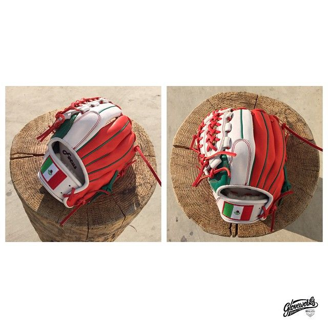 GLOVEWORKS x SANCHEZ Red, Green and White - So Mexico. Fly your Bandera de Mexico! #Baseball #Mexico #Gloveworks #BringItHome #CustomGlove #CustomMitt #CustomBaseballGlove #ProGlove
