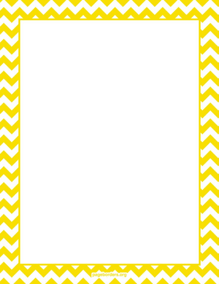 yellow chevron border Digital Scrapbooking Freebies Pinterest