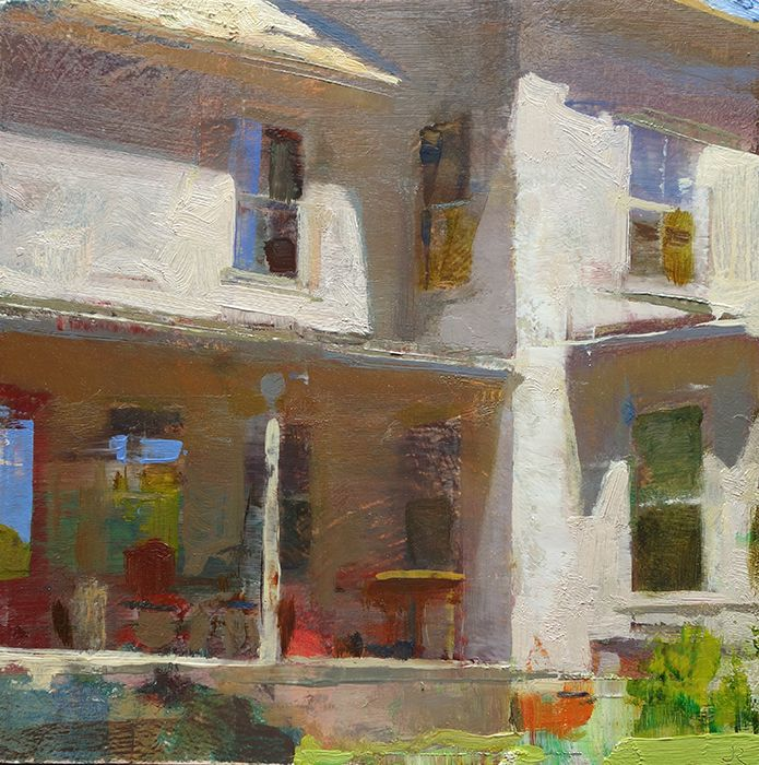 Jon Redmond, Kitchen Door, 2015 oil on board, 10 x 10 inches