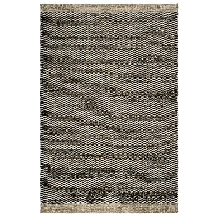 Colombo Handwoven Black Beige Rug Fab Habitat Outdoor Flooring Rugs