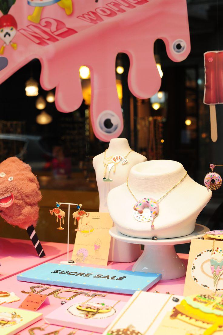 Boutique N2 Paris, nouvelles vitrines, printemps été, bijoux fantaisies