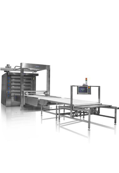 Borulu Katlı Fırın ( Otomatik Yüklemeli ) - Az İşçiyle Yüksek Kapasitede Üretim İmkânı 25 m2 Pişirme Alanı (Her Bir Fırın İçin) Tamamıyla Paslanmaz Çelik Üretim Gövde 250 Farklı Ürün İçin Ayrı Reçete Yüklenebilme Özelliği Üç Fırını Tek Ekrandan Kontrol Edebilme Kolaylığı Uzaktan Kontrol Edebilme Özelliği (Android ve IOS) Hızlı Onarım Kolaylığı Harici Buhar Jeneratörü