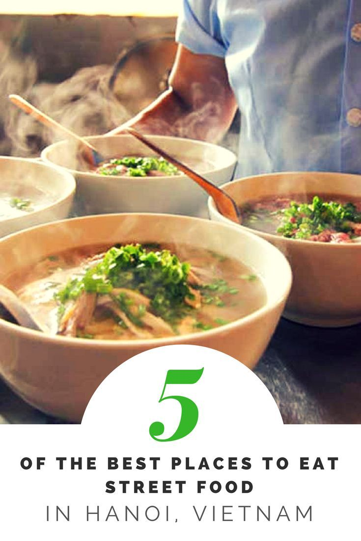 Five of the hottest spots where you can eat the best street food in Hanoi like (and together with) the locals. #streetfood #hanoi #vietnam