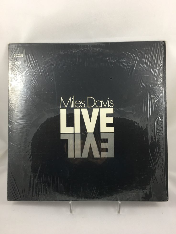 Miles Davis Live Evil, Vinyl LP, Columbia Records, Double LP Record Album, Alternate Black Cover, Shrink Wrap, Jazz Album by CapeCodModern on Etsy