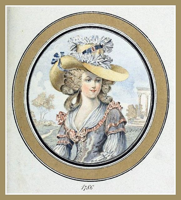 Hats by Madame Bertin  (Milliner to Marie Antoinette & the French Court) 1786