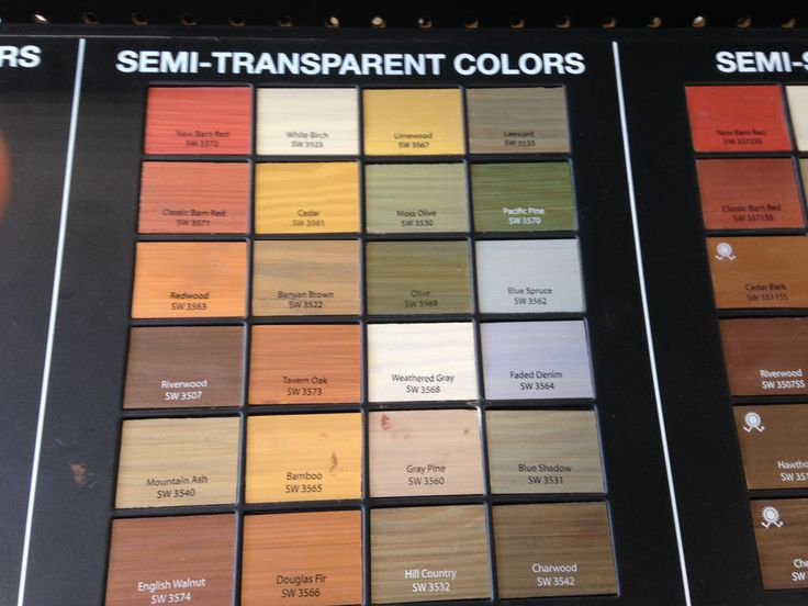 Sherwin Williams Semi Transparent Stains For Deck U0026 Fence