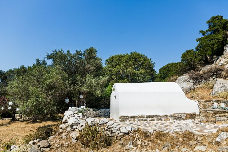 We planned the first ever celebration at this wilderness church Agios Isidoros in Sangri Naxos  - #naxosweddings2015