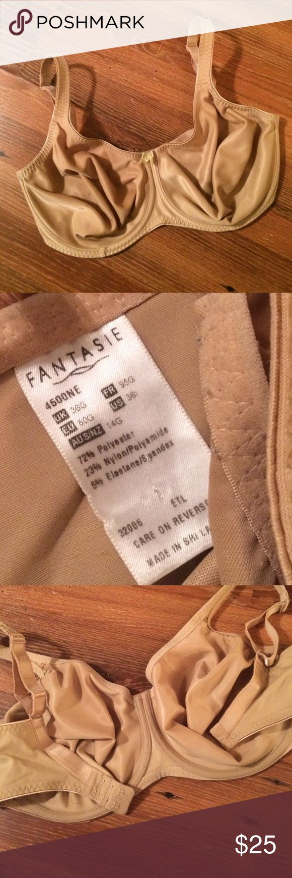 Fantasie Bra Very gently worn Fantasie bra nude. US 36I / UK 36G.  Pretty much like new.  Was purchased at Nordstrom Fantasie Intimates & Sleepwear Bras