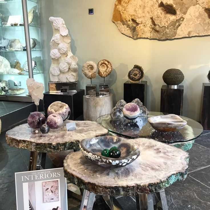 We have a beautiful collection of Amethyst Quartz table tops ready to view at our Pimlico home. #London #Crystals #Minerals #design #interiors #interiordesign #art #homedecor #interiordecor #nature #creative