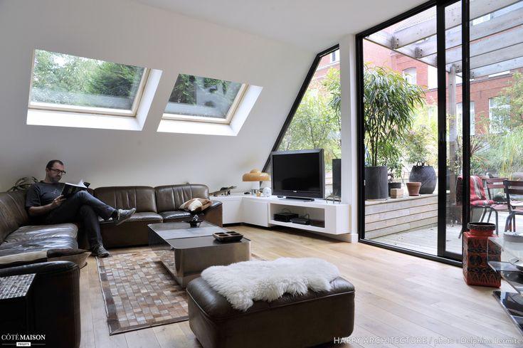 1000 id es sur le th me plafond inclin sur pinterest placard de grenier p - Grandes baies vitrees ...