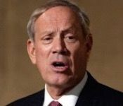 "President Barack Obama's ""lead-from-behind"" strategy is to blame for most of America's problems abroad, former New York Gov. George Pataki said Sunday."