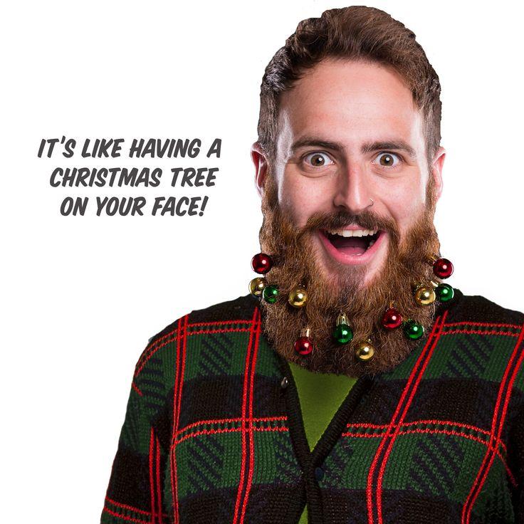 Um...  no.  Beard Ornaments