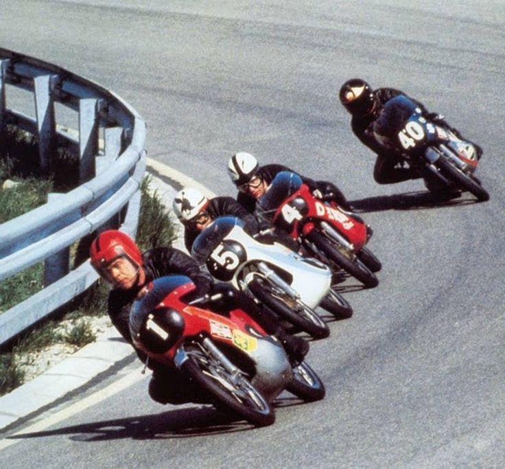 Salzburgring (Austria) 1971 125cc - Dieter Braun, Gilberto Parlotti, Angel Nieto, Barry Sheene