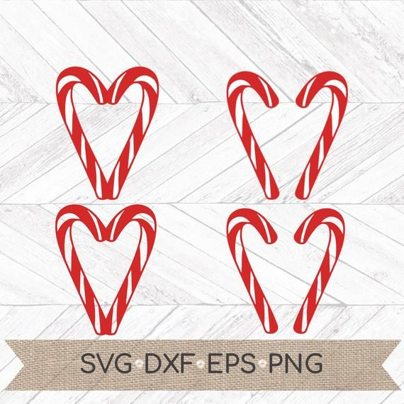 Candy Cane Heart Svg Candy Cane Svg Christmas Heart Svg Etsy Candy Cane Christmas Hearts Svg