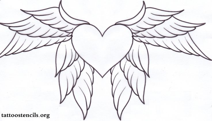 heart with wings adult colouring hearts love zentangles pinterest posts wing tattoos. Black Bedroom Furniture Sets. Home Design Ideas