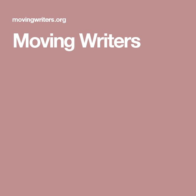 Moving Writers