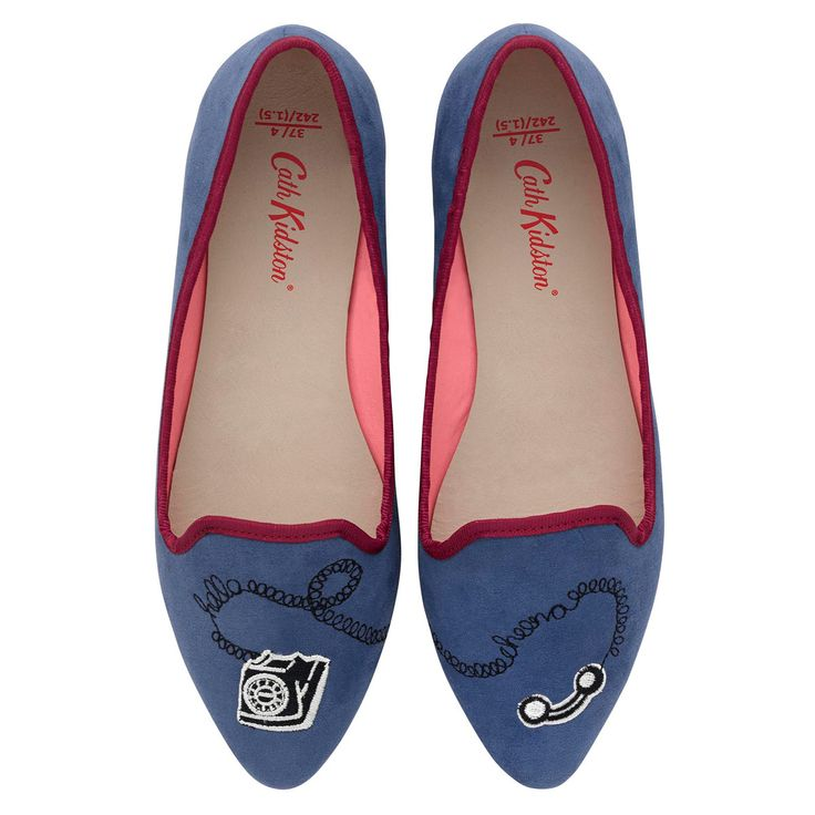 Telephones Embroidered Shoe | Footwear | CathKidston