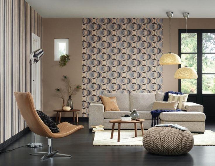 Přes 25 nejlepších nápadů na téma Wohnzimmer Tapeten Ideen na - wohnzimmer tapeten ideen braun