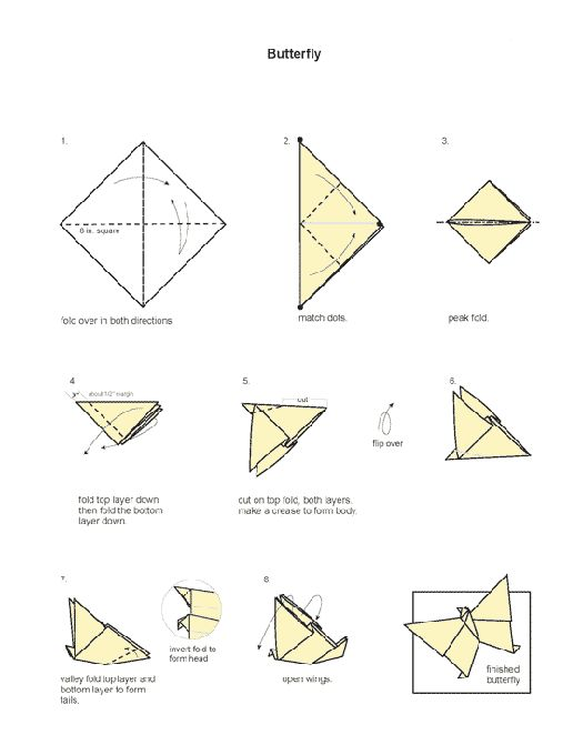 diagramme origami papillon papillon pinterest. Black Bedroom Furniture Sets. Home Design Ideas