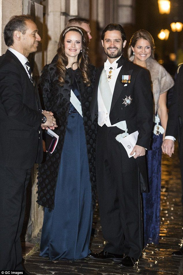 Also at the formal event was Prince Carl Philip and his wife Princess Sofia, who wore a stylish blue gown, while pregnant Princess Madeleine also opted for a similar shade
