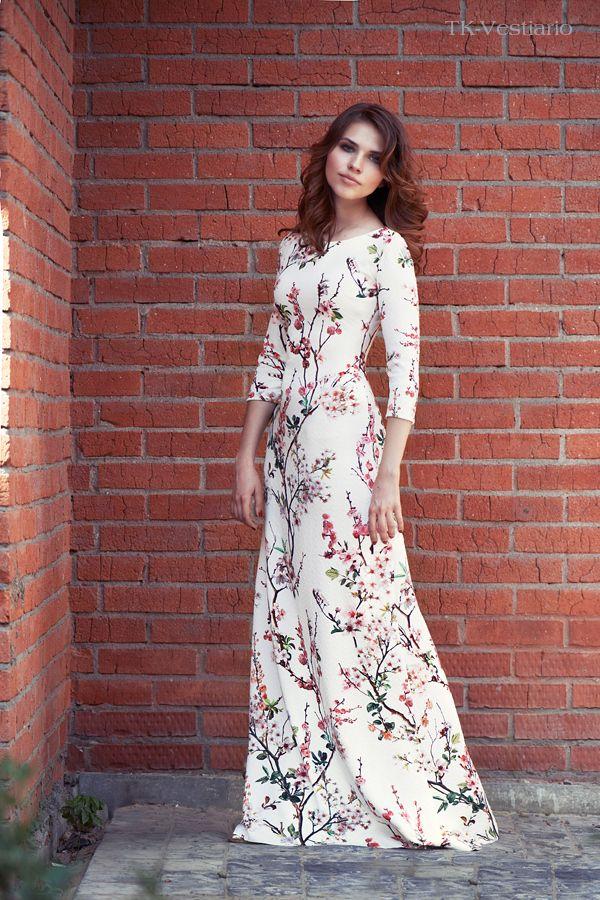 Таисия Кирцова. Длинное платье в пол | Long flower dress