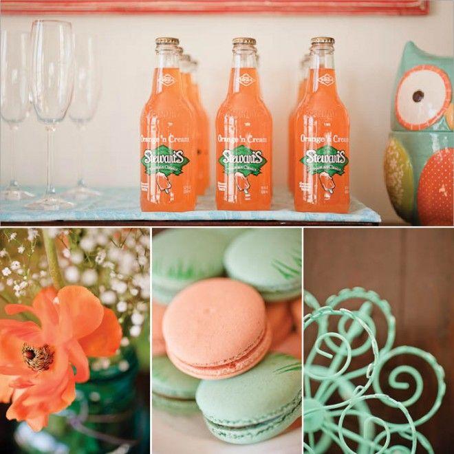 Aqua & Orange Baby Shower