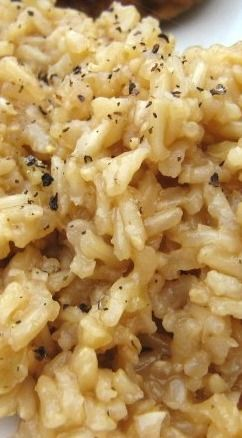 Garlic Butter Rice...use my own homemade broth instead of artificial bouillon cubes.