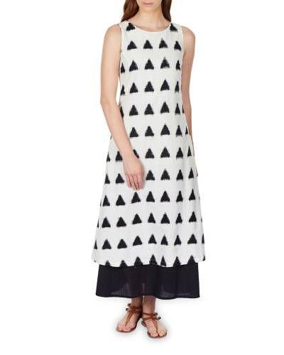 Layered Ikat Maxi Dress I Shop at :http://www.thesecretlabel.com/bhava-by-kritika-narua